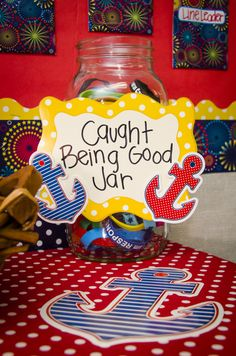 Anchors Caught Being Good Jar full of well-deserved wristbands