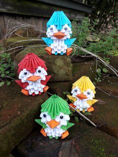 3d origami pinguïn!