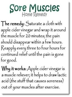 Sore muscle rememdy..will try this for Fibromyalgia pain and see how it works.