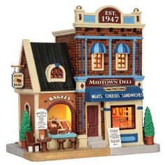 Lemax Midtown Deli & Bagels SKU# 65192 Released in 2016 as a Lighted Building for the Caddington Collection.