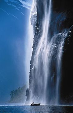 Geirangerfjord, Norway, annndddd my obsession for waterfalls is still at large... :)