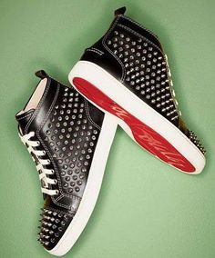 9e830a205dc2 Men s Louboutin Studded Sneakers.  ChristianLouboutin Red Bottom Shoes
