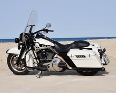 Former police Harley Davidson Road King from 1992. Many changes though... Was with Miami Police before purchased. Benidorm, Spain, España
