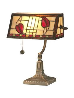 Save $ 15 order now Dale Tiffany TA11010 Henderson Bankers Accent Lamp, Antique