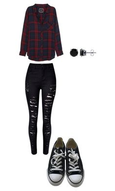 """""""Punk"""" by explorer-14571193261 on Polyvore featuring Rails, WithChic, Converse and BERRICLE"""