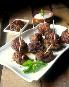 Grilled Meatballs with Yogurt and Chutney Recipe. I have said it before, I will say it again. I love meatballs. And I have had some of the best meatballs of ...