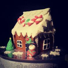 Snowman's gingerbread house