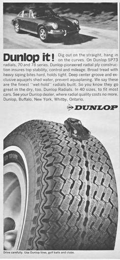 A 1971 #vintage Porsche 911 #Dunlop radial tyres advert. #throwbackthursday