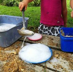 warm and soapy mud pies