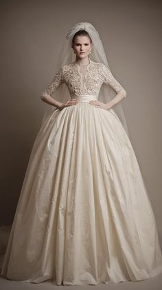Fit for a queen ~ Ersa Atelier 2015 Bridal Collection | bellethemagazine.com