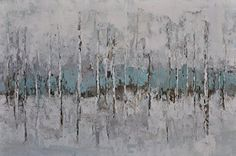 BIRCH TREES WITH GRAY AND BLUE