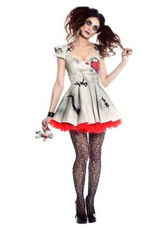 Find scary adult costumes for Halloween at unbeatable prices. Get a really scary Halloween costume for men or women and you'll be ready for a night out. Costume Halloween, Diy Voodoo Doll Costume, Popular Halloween Costumes, Scary Halloween Costumes, Cute Costumes, Spirit Halloween, Adult Costumes, Costumes For Women, Costume Ideas