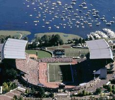 Husky Stadium is the home for The University of Washington Huskies located in Seattle, WA