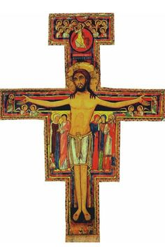 San Damiano Cross - We& go deep into the details of the images and meaning of this beautiful icon also called St Francis of Assisi cross or Crucifix of San Damiano. Catholic Daily, Catholic Online, Catholic Saints, Catholic News, Catholic School, Francis Of Assisi, St Francis, Saint Damien, Knights Of Columbus