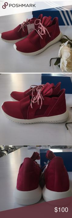 Adidas tubular women's shoes Women's size 8 adidas tubular shoes. Perfect condition and never worn, just too big on me sadly. Brand New. A reddish pink color! I️ can post more photos if needed adidas Shoes Sneakers