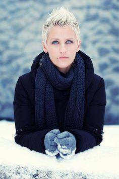 Gorgeous ice blue eyes.