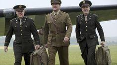 Matt Damon, Hugh Bonneville and George Clooney – as fictional British officer Donald Jeffries – in T