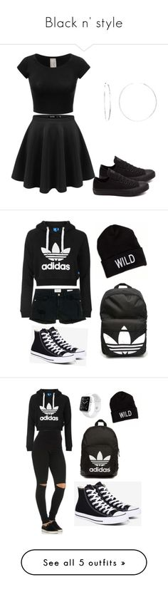 """Black n' style"" by toyaboswell on Polyvore featuring Converse, Sterling Essentials, Frame Denim, Topshop, adidas, American Eagle Outfitters, Apple, adidas Originals, NIKE and Miss Selfridge"