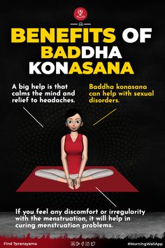 Baddha konasana (bound-angle pose) is a bes practicing for cross-legged sitting poses, also known as the Butterfly Pose.  Baddha konasana  yoga poses names come from the Sanskrit language, here the name Baddha meaning bound, Kona meaning angle or split, and Asana meaning posture.   This pose is the advanced variation of butterfly pose. because of the movement of your legs during the posture, seems liks as a butterfly flapping its wings.                    b Yoga Moves, Yoga Workouts, Yoga Facts, Fat Yoga, Yoga Poses Names, Butterfly Pose, A Darker Shade Of Magic, Sanskrit Language