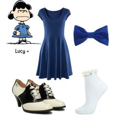 Lucy from Peanuts, created by dotfrye on Polyvore