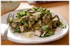 chicken with zaatar, lemons