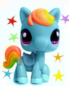 Lps rainbow dash! But they got her cutie mark wrong and her mane colours. What up with that?