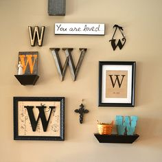 Nothing beats a gallery wall for interest and decorating savvy! Here are some tips for putting together your own Monogram Gallery Wall.