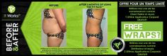 Contact me today for your before and after results!  www.carolinelachapelle.myitworks.com français : www.wrapquebec.com  #itworks #weightloss #health #body #stretchmarks