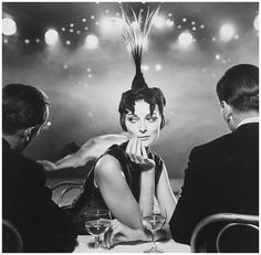 Carmen Dell'Orefice, Folies Bergeres, Harper's Bazaar, 1957. Photo by Richard Avedon.