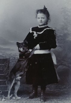 A Girl and her dog....Germany 1905