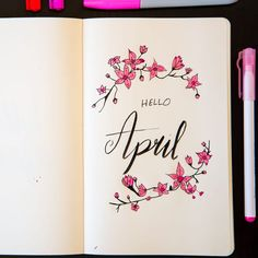 Plan with me November spread is now live on my channel. Link is i Hello April. April Bullet Journal, Bullet Journal Ideas Pages, Bullet Journal Inspiration, Journal Pages, Journals, Bullet Journal Birthday Tracker, Bullet Journal Aesthetic, Journal Layout, Filofax