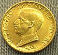 Italia, 100 lire d'oro. Vittorio Emanuele III, 1931