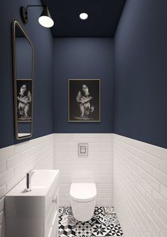 93 Cool Black And White Bathroom Design Ideas oneonroom - Wohnkultur // Badezimmer im Erdgeschoss - Bathroom Decor Downstairs Bathroom, Bathroom Small, Bathroom Black, Master Bathroom, Small Bathroom Designs, Cool Bathroom Ideas, Cloakroom Ideas, Design Bathroom, Bathroom Toilets