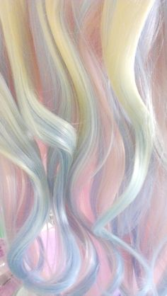 Blond with blue, aqua and pink streaks