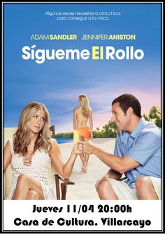 """#Villarcayo 11/04/2013 Cine """"Sigueme el rollo"""" 20:00:h Casa de Cultura #Merindades"""