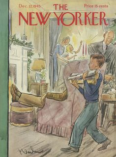 The New Yorker - Saturday, December 22, 1945 - Issue # 1088 - Vol. 21 - N° 45 - Cover by : Perry Barlow