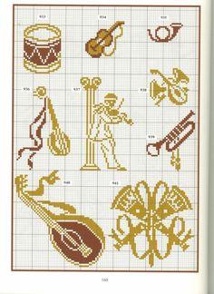 ru / Photo # 95 - 28 - Valentina-A Cross Stitch Music, Cross Stitch Bookmarks, Cross Stitch Charts, Cross Stitch Embroidery, Cross Stitch Patterns, Loom Beading, Beading Patterns, Crochet Patterns, Crochet Cross