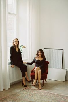 Giulia and Giorgia Tordini for & Other Stories. Preview of the shooting for the christmas capsule collection by Garance Dore'.