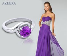 Azeera rings… the perfect match to your evening dress today!