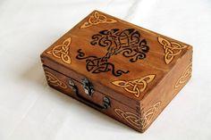 Vintage box carved with celtic patterns!