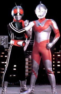 Ultraman & Kamen Rider!  The special that they were in together totally rocked!  #ultraman #urutoraman #maskedrider #kamenrider