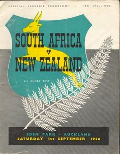 Programme for Springbok game in New Zealand