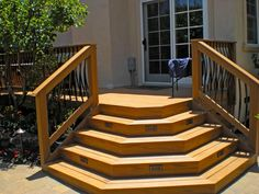 Materials and Construction Basics Get tips on how to choose the best decking materials and build a deck from HGTVRemodels.Get tips on how to choose the best decking materials and build a deck from HGTVRemodels. Front Porch Steps, Front Deck, Front Porches, Steps For Deck, How To Build Porch Steps, Deck Building Plans, Deck Plans, Building Stairs, Building A Porch