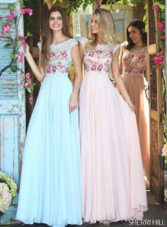 Pretty pastel floral prom dress (try saying that 5 times fast)