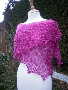 Quite Continental/ A New Beaded Shawl Pattern from Boo Knits