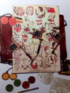 Percy Waters tattoo kit from the 1930's.