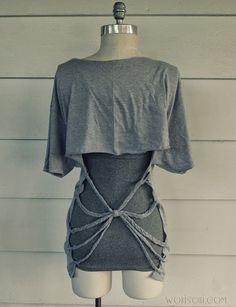 Diy fringe shirt unique 74 awesome crafts for teenage girls – beae. Zerschnittene Shirts, Diy Cut Shirts, T Shirt Diy, Shirt Makeover, Diy Shirt Printing, Cut Up T Shirt, Site Mode, Shirt Tutorial, Diy Tutorial