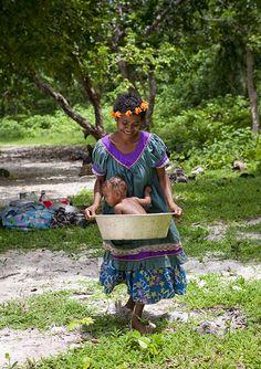 Bath time in Papua New Guinea