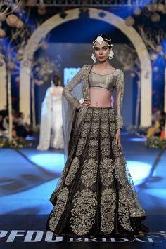 runway model in #bridal #lengha