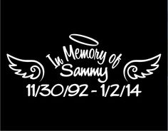 The Designer Series In Loving Memory Vinyl Decal is our most popular  memorial product with many ...